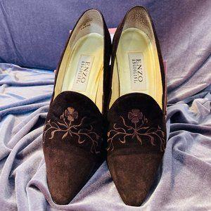 Enzo Angiolini Cocoa Velvet Heels